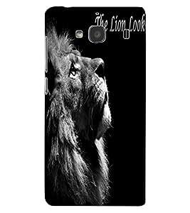 ColourCraft Lion Look Design Back Case Cover for XIAOMI REDMI 2S