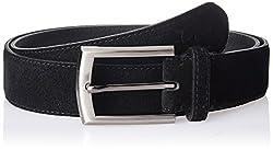 Parx Men's Leather Belt (8907114594307_100_Black)