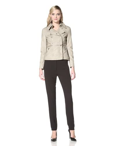 W118 by Walter Baker Outerwear Women's Tina Double Breasted Jacket with Removable Zip Bottom  - Taup...