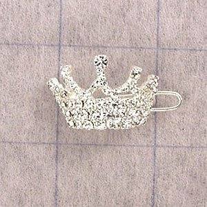 Buy X-Small Crown Barette : Finish 23K GOLD : Code CRW55F0C