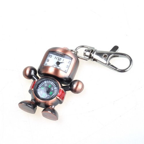 NEEWER� Bronzy Robot Shape Pocket Watch With Compass
