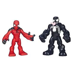 Playskool Heroes Marvel Super Hero Adventures Scarlet Spider Man and Venom Figures
