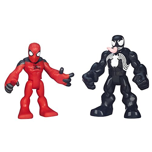 Playskool Heroes Marvel Super Hero Adventures Scarlet Spider-Man and Venom Figures - 1
