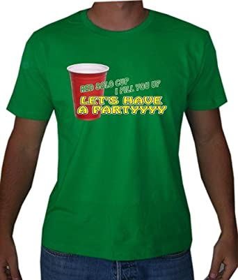 Red Solo Cup Mens T-shirt (Small, Kelly Green)