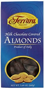 Ferrara Chocolate Covered Almonds, Milk, 5.64 Ounce