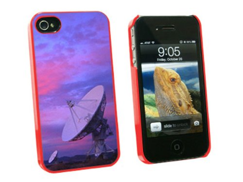 Graphics And More Very Large Array Vla Radar Telescope Dishes New Mexico At Sunset - Snap On Hard Protective Case For Apple Iphone 4 4S - Red - Carrying Case - Non-Retail Packaging - Red