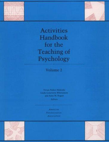 Activities Handbook for the Teaching of Psychology, Volume 2