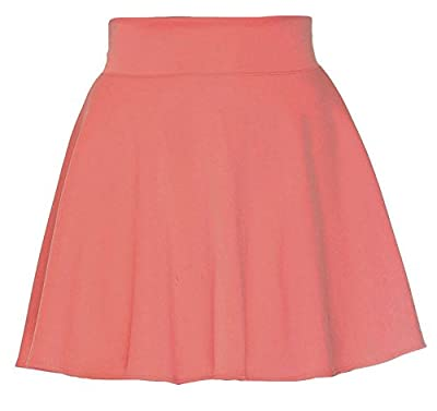 Simplicity Women's Summertime Cute High Waisted Stretchy Flared Skater Skirt