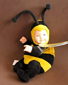 BABY BEES - Bean Filled Collection by Anne Geddes - Baby Bee Doll by Unimax Toys