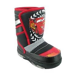 Disney Cars Lightning McQueen Black Toddler Winter Snow Boots (5)