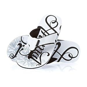 Animal Swish Logo Flip Flops - White