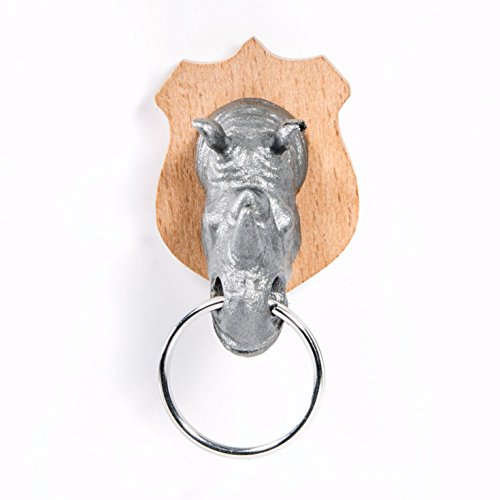 Suck UK Animal Head Key Holder, Rhino