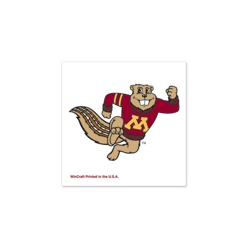 "Minnesota Golden Gophers Official NCAA 1""x1"" Fake Tattoos by Wincraft"