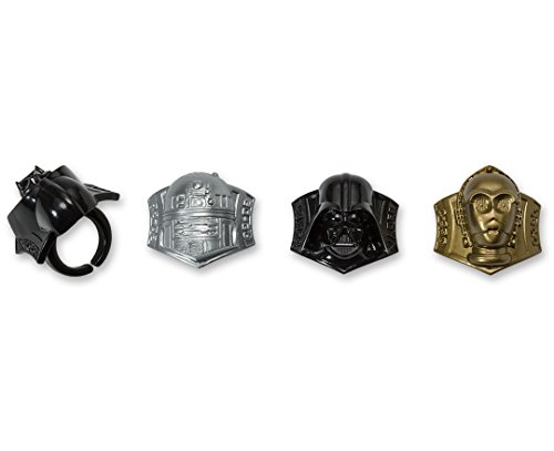 DecoPac Star Wars Darth Vader, C3P0 R2D2 Cupcake Rings,  12 pieces (War Ring compare prices)
