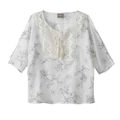 Vero Moda Donna Camicetta Con Plastron Cosima Taglia 3 Bianco