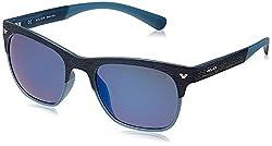 Police Polarized Wayfarer Unisex Sunglasses (S1950M53715BSG 53 Smoke with Blue Mirror lens)
