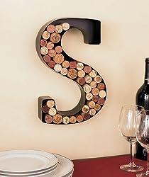 Metal Monogram Wine Cork Holder S