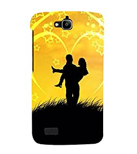Lovely Pair 3D Hard Polycarbonate Designer Back Case Cover for Huawei Honor Holly :: Honor Holly