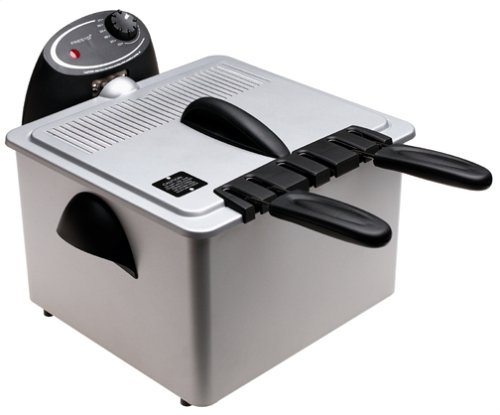 Presto 05464 Dual Basket ProFry Immersion Element Deep Fryer