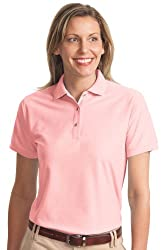 Port Authority Women's Comfortable Classic Polo Shirt_Light Pink_Large