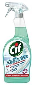 Cif - Nettoyants Ménagers Pistolet - Antibactérien - 750 ml - Lot de 2