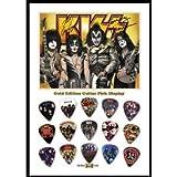 Printed Picks Company KISS New Gold Edition (A) Guitar Pick Display with 15 Guitar Picks
