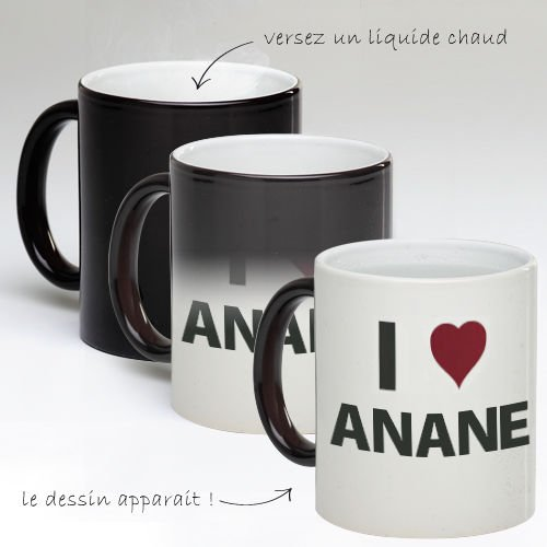 Tasse Mug Magique Personnalise I Love Anane