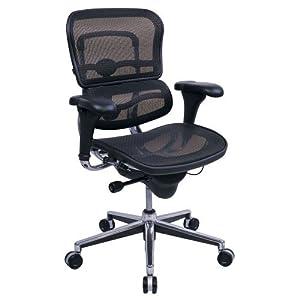 High Back Ergonomic Chair in Mesh Blue Mesh/Chrome Frame