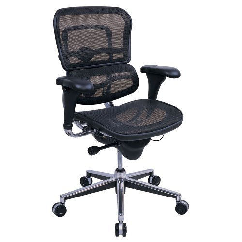 High Back Ergonomic Chair in Mesh Black Mesh/Chrome Frame