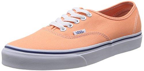 Vans U Authentic, Unisex-Adult Hi-Top Sneakers, Orange (Canteloupe/True White), 2.5 UK