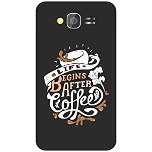 Samsung Grand 2 begins after coffee Phone Cover - Matte Finish Phone Cover