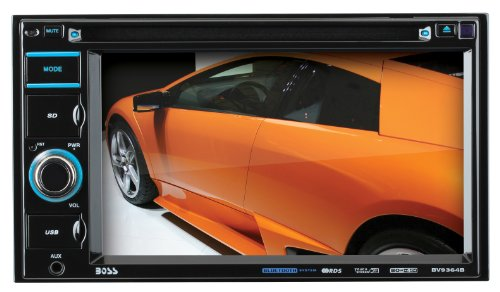 "Boss Audio BV9364B - Bluetooth Enabled, In-Dash, Double DIN, DVD/MP3/CD AM/FM Receiver, Featuring A 6.2"" Widescreen, Touchscreen, Digital TFT Monitor"