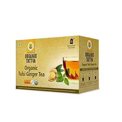 Organic Tattva Tulsi Ginger Tea, 20 Tea Bags low price
