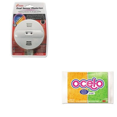 Kitkid442007Mmm7274T - Value Kit - Kidde Dual Sensor Smoke Alarm (Kid442007) And 3M O-Cel-O Sponge W/3M Stayfresh Technology (Mmm7274T)