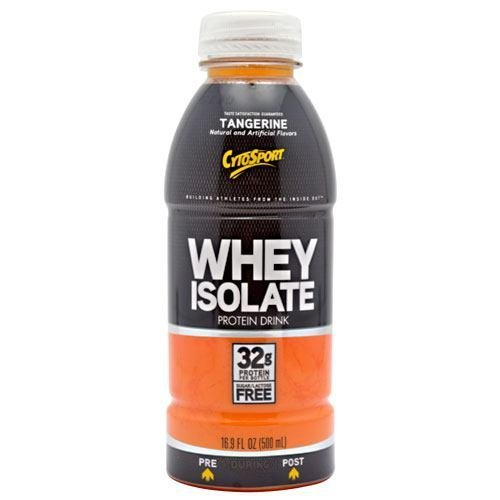 Cytosport Whey Isolate Ready To Drink Protein Shake Tangerine 500ml 12 Bottles by CytoSport