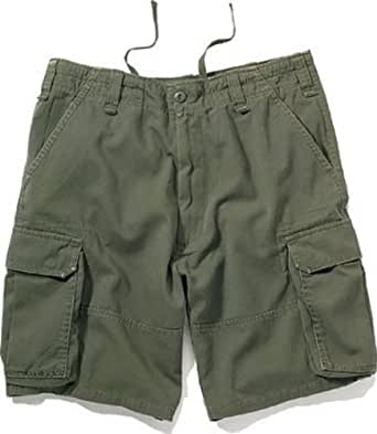 Olive Drab Vintage Paratrooper Army Military Cargo Shorts Size 4X-Large