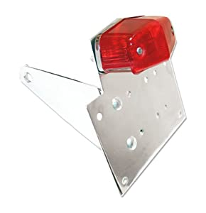 Chrome Billet Motorcycle Side Mount Licence Plate Bracket With 12 Volt Red/Run Tail Light for Yamaha FZR 150,FZR 250,FZR 400