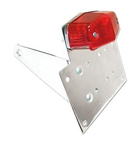 Chrome Billet Motorcycle Side Mount Licence Plate Bracket With LED Tail Light for Kawasaki Z 1000,1100,1300, Zephyr