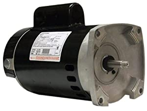 A.O. Smith B2854 1-1/2 HP, 3450 RPM, 8.0/16.0 Amps, 1.1 Service Factor, 56Y Frame, PSC, ODP Enclosure, Square Flange Pool Motor from Century Electric/AO Smith Motors Co