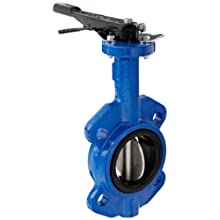 Dixon BFVW300 Ductile Iron Wafer Style Butterfly Valve with Stainless Steel Disc and Buna-N liner, 3&#034; Size, 200 psi Pressure