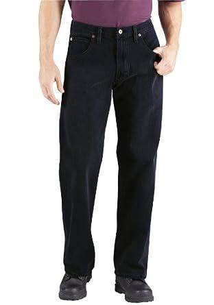 Dickies DD310CNB Loose Straight Fit Five Pocket Jean (Raw Rigid;44W x 30L)