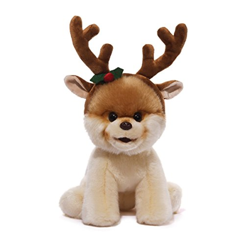 "12"" Boo The World'S Cutest Dog With Reindeer Antlers Christmas Plush Stuffed Animal Toy front-791083"