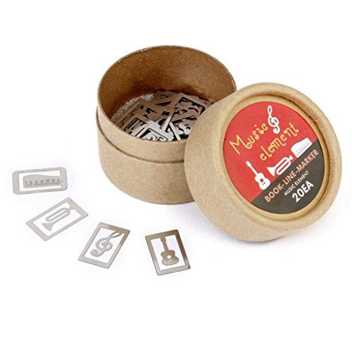 Silber-Klassische-20-Stck-box-4-Stile-Metall-Lesezeichen-Souvenirs-mit-Box-Musikinstrument