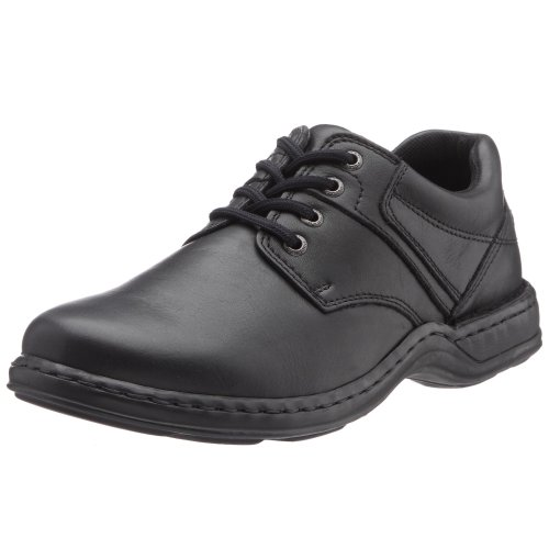 Hush Puppies  Bennett,  Scarpe con le stringhe uomo, Nero (Noir (Black Leather)), 7 UK