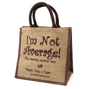 Slogan Jute Bag - I'm Not Average: Amazon.co.uk: Kitchen