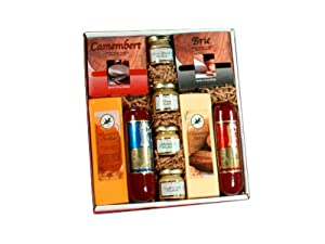 Holiday Party Cheese and Sausage Assortment Gift Box