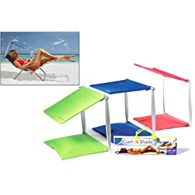 Sunshade Portable (Cush n Shade 2 in 1 Combines Cushion and Sunshade in One) Mediterranean Blue