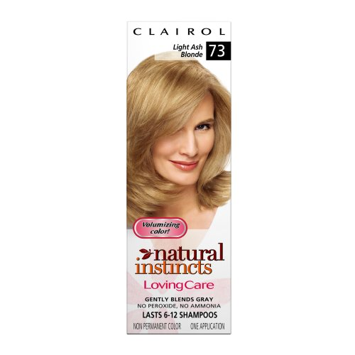 Clairol Natural Instincts Loving Care Color, 073 Light Ash Blonde (Pack of 3)