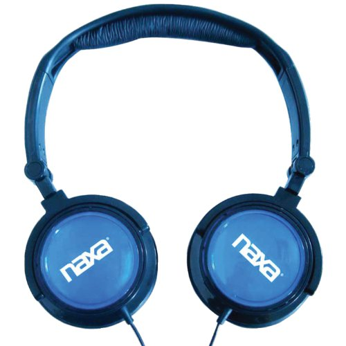 Naxa Electronics Ne-926Bl 2-In-1 Combo Super Bass Stereo Headphones And Earphones, Blue