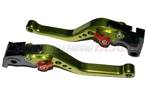 Yamaha R1 2004 2005 2006 2007 2008 R6 2005 2006 2007 2008 2009 2010 2011 Adjustable BILLET Shorty Brake Clutch Lever Parts GREEN Parts